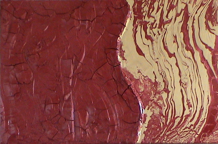 Kyle Rainey   Love Of Red 20X30 Acrylic Plaster